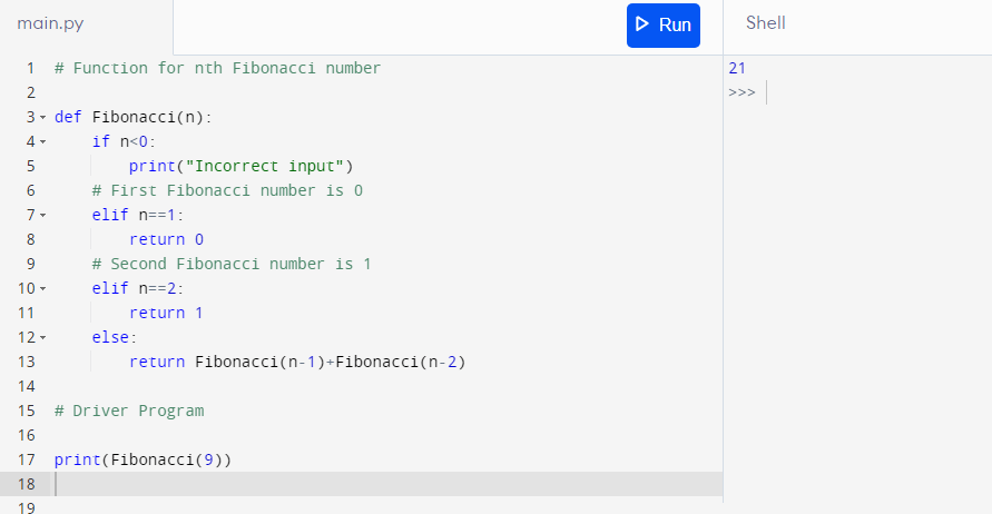 Python Programming for Fibonacci Series- 1