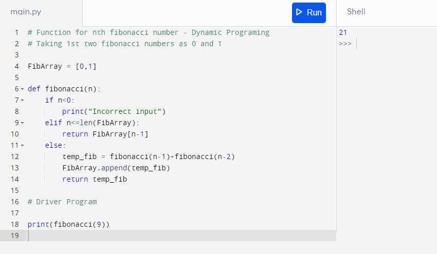 Python Programming for Fibonacci Series- 2